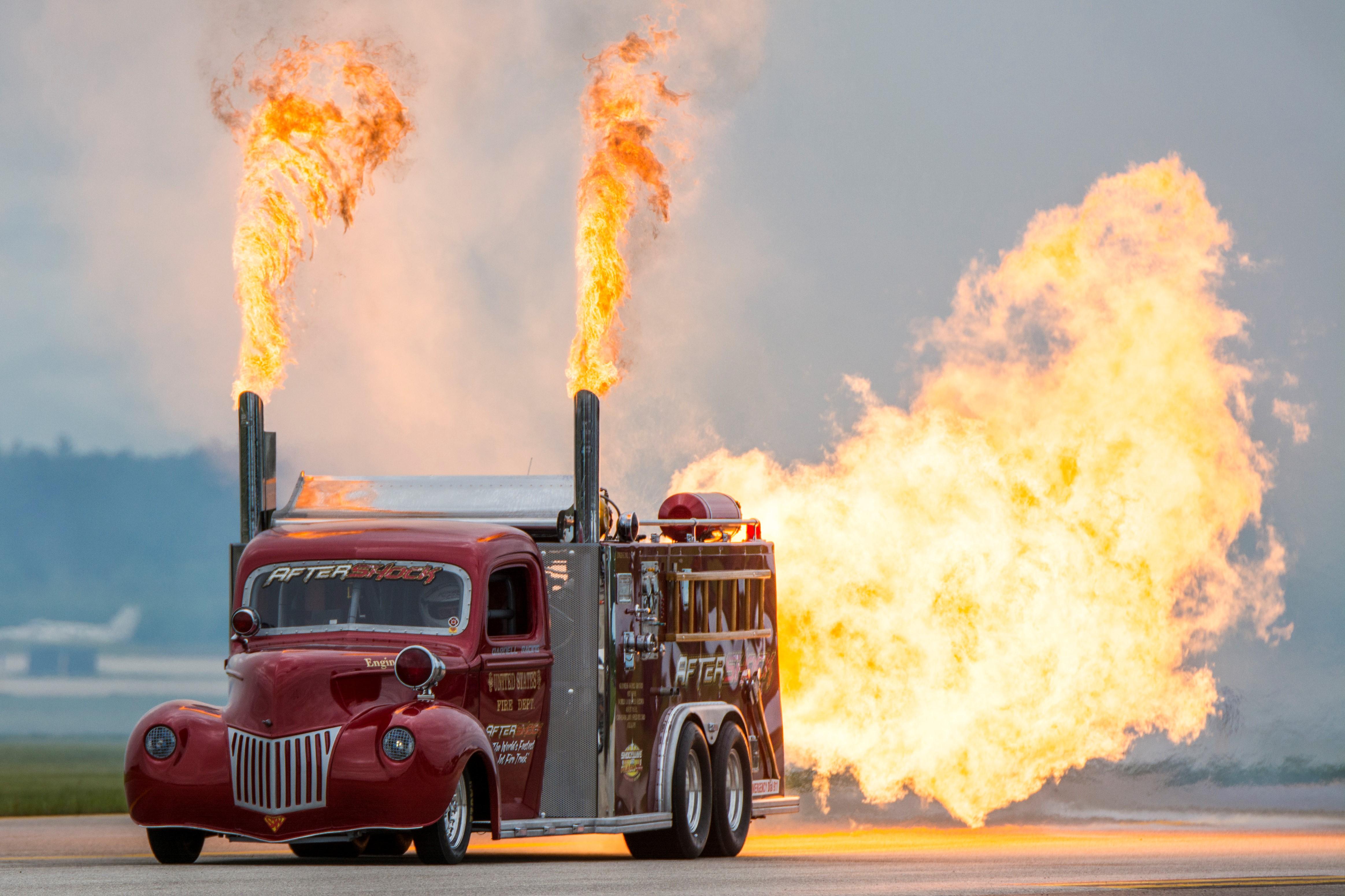 Shockwave And Flash Fire Jet Trucks Media Relations