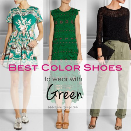 Best Color Shoes to Wear with Green Dress Go Green  Best Color Shoes to Wear with Green Dresses   Outfits