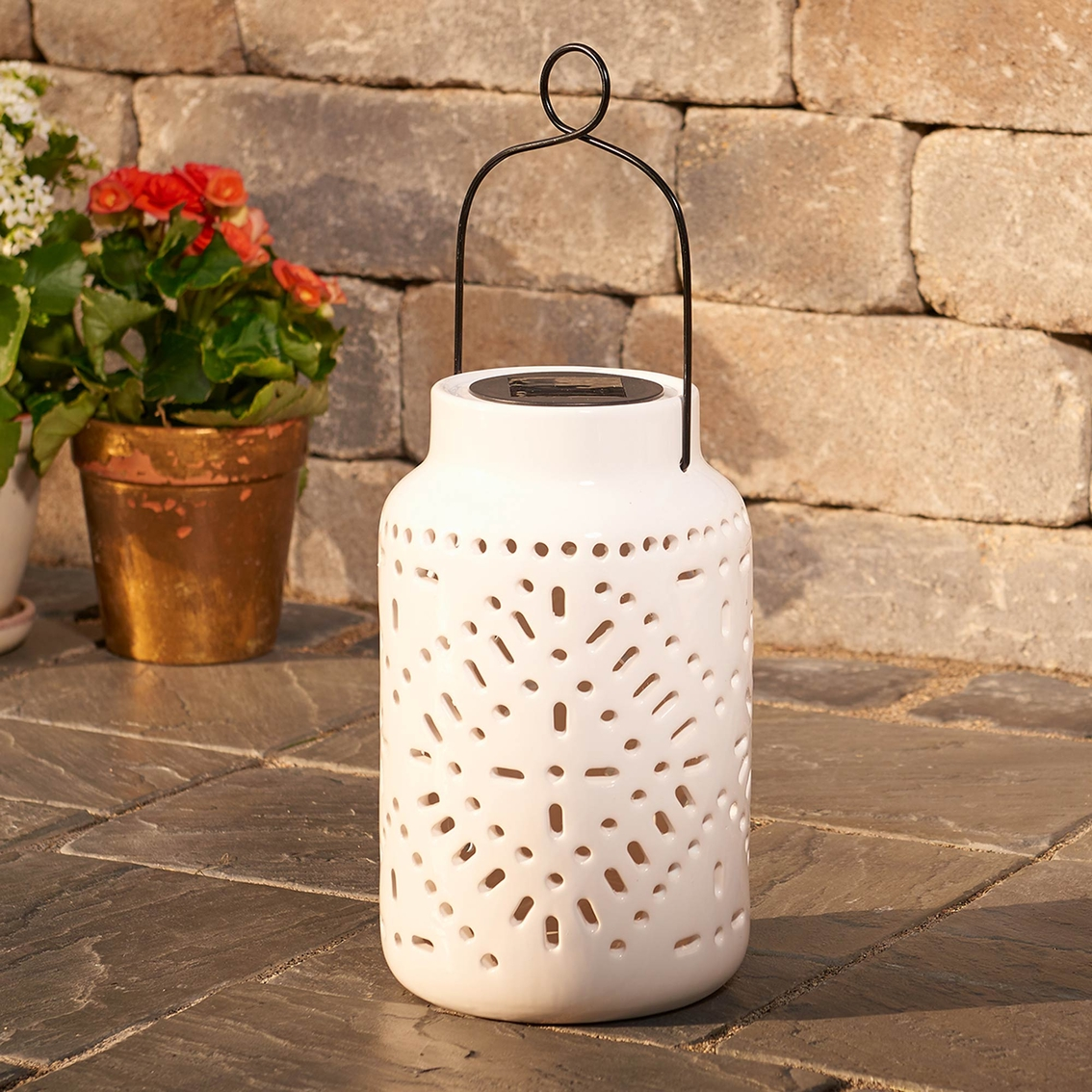 Smart Solar Tangiers Ceramic Lantern Lighting More