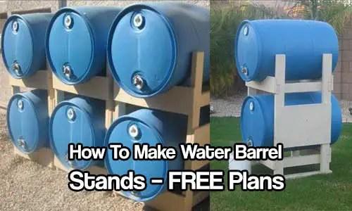 Water Barrel Storage Rack Plans