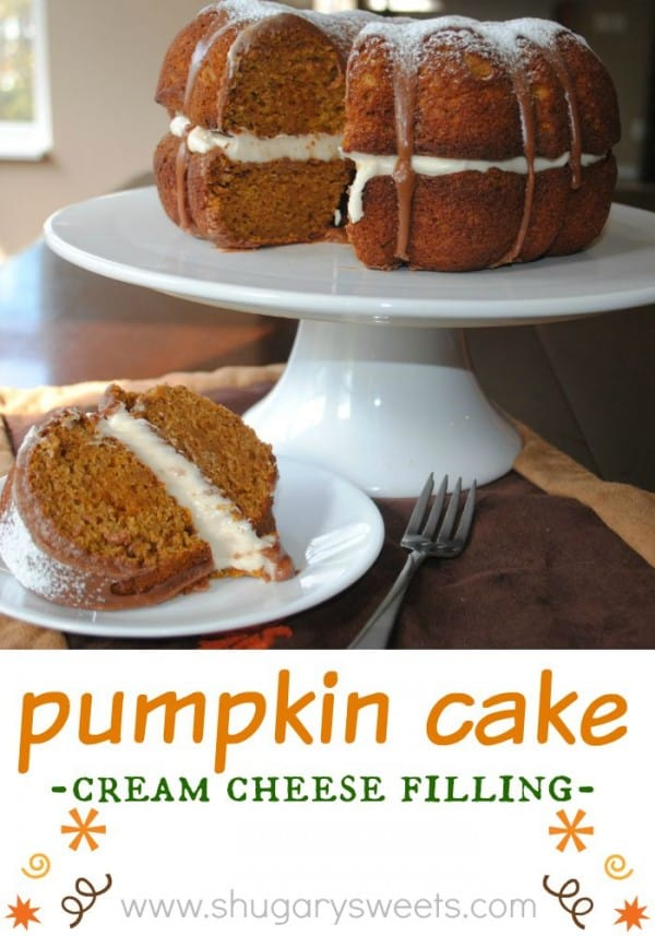 Pumpkin Cake With Chocolate Ganache Shugary Sweets