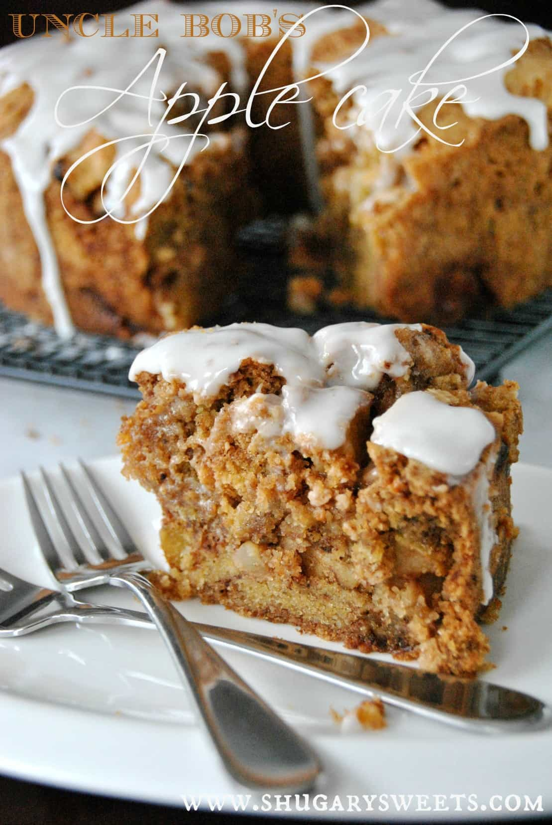 Apple Cake With Honey Glaze Shugary Sweets