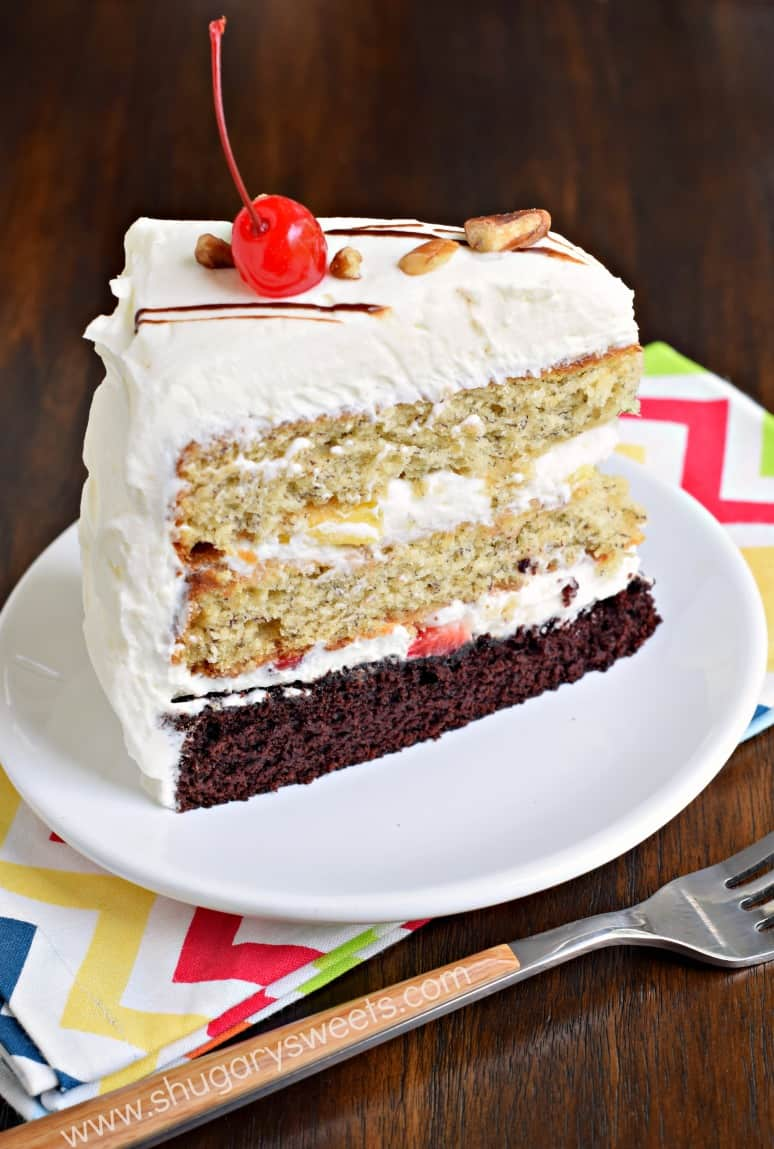 Banana Split Cake Shugary Sweets