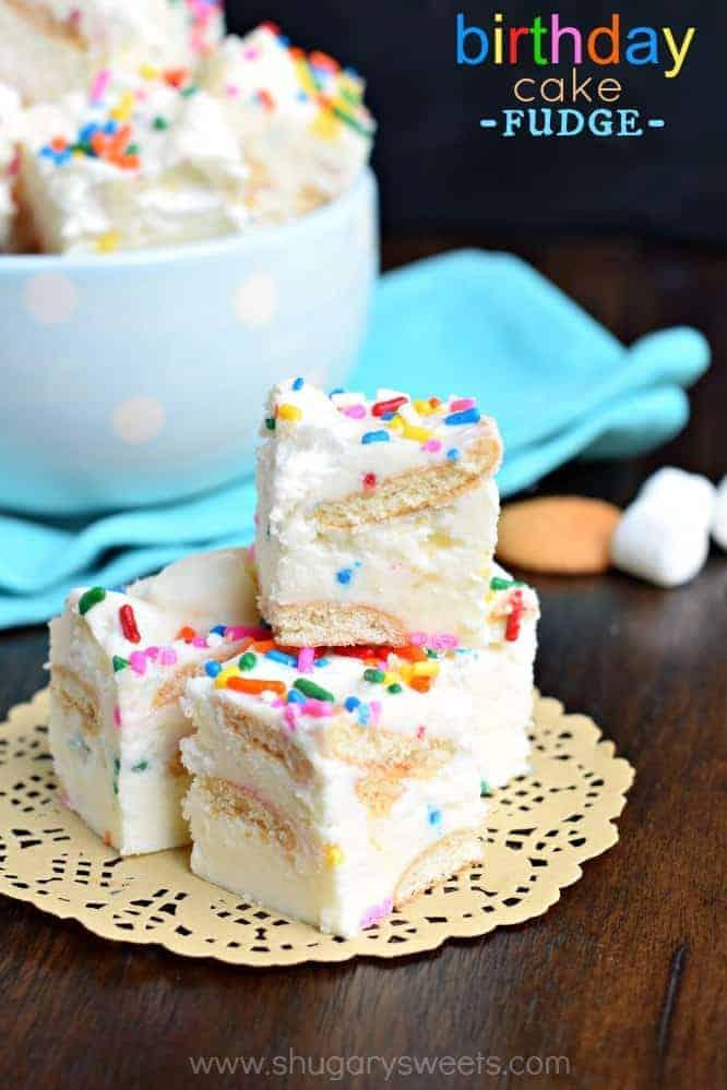 Birthday Cake Fudge Shugary Sweets