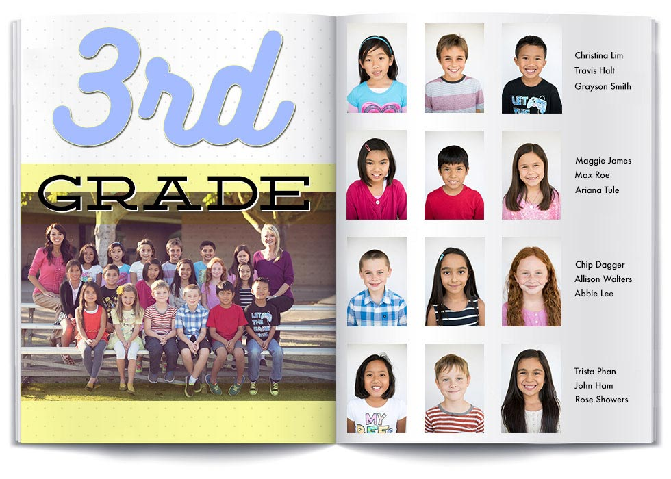 Yearbook Layout Background Page
