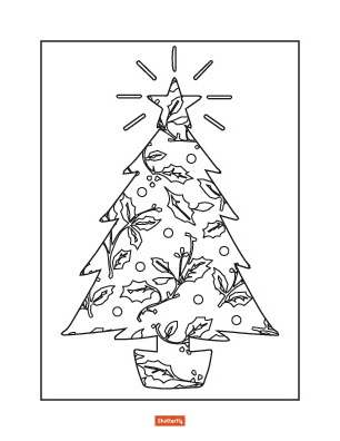 christmas trees coloring pages # 61