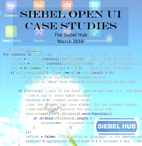 Open Ui Siebel Examples