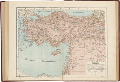 Siger org      2  Palestine in the Ottoman Empire Ottoman atlas of the world  map of Asia Minor  Syria and Palestine  Istanbul