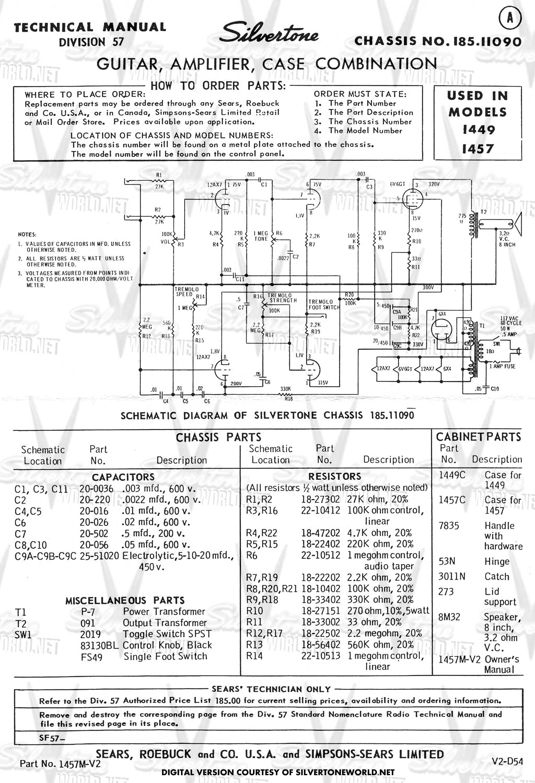 Vintage Silvertone Guitar Wiring Diagram Circuit Symbols Epiphone For Free Download Rh Xwiaw Us Pickup Diagrams