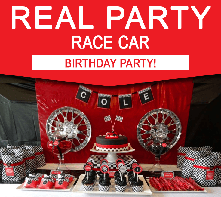 Race Car Birthday Party Ideas Printable Party Decorations