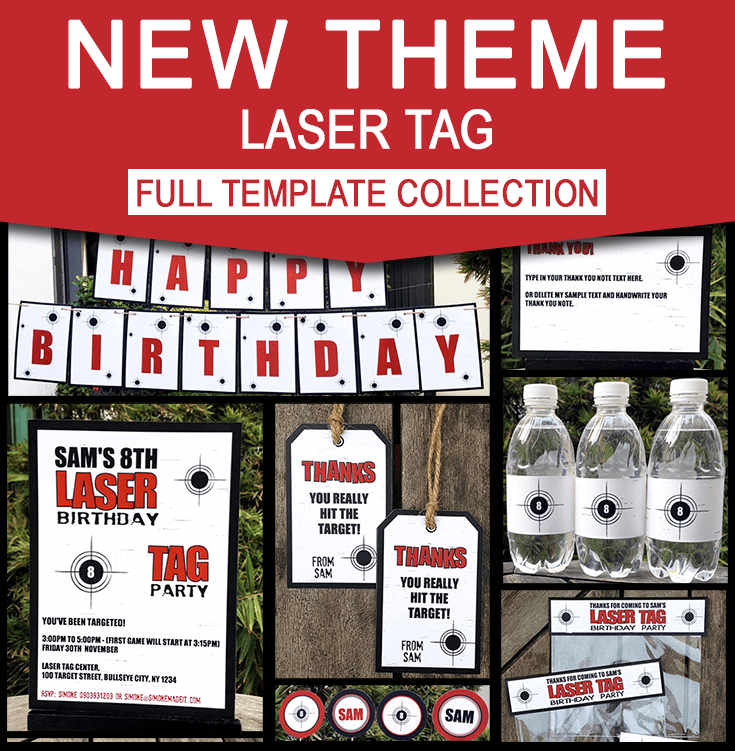 Laser Tag Party Invitations Amp Decorations