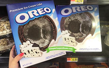 Oreo Ice Cream Cake 8 48 At Walmart Simple Coupon Deals