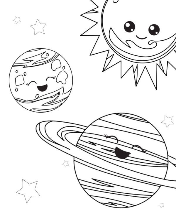space coloring page # 2