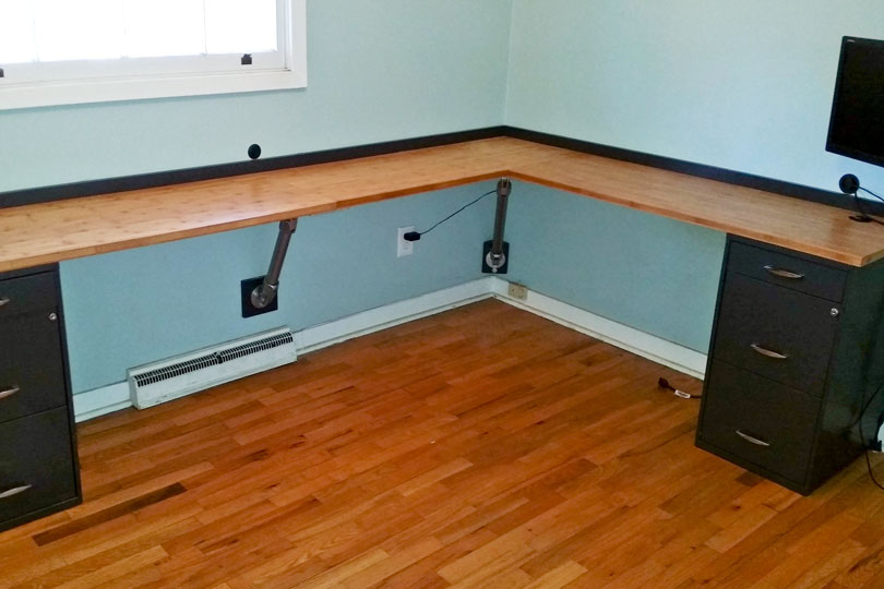 17 DIY Corner Desk Ideas to Build for Small Office Spaces     Wall Mounted Corner Desk