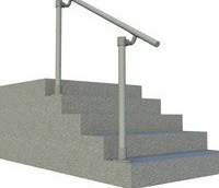 Simple Handrail For Steps Promotes Elderly Mobility Simplified | Handicap Rails For Steps | Deck | Wheelchair Ramp | Activated Led | Adjustable Height | Bed