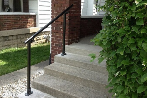 Outdoor Stair Railing Kit Buy Step Handrail Online Simplified | Simple Handrail For Outside Steps | Wrought Iron Railing | Concrete Steps | Wood | Deck Railing | Stair Railings