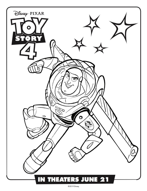 buzz lightyear coloring page # 16