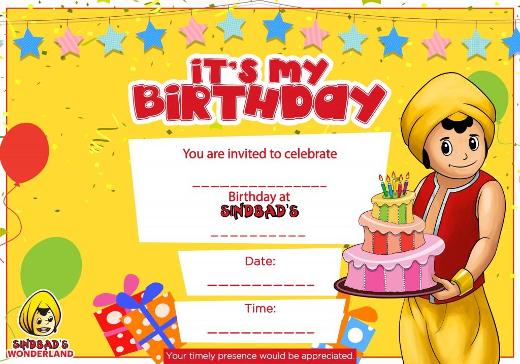 Mcdonalds Birthday Party Invitation Cards