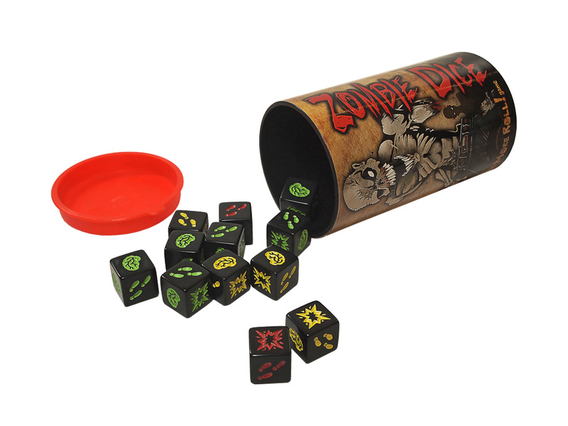 Zombie Dice All Components      Dice Cup