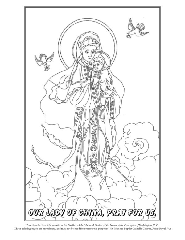 saint coloring pages # 8