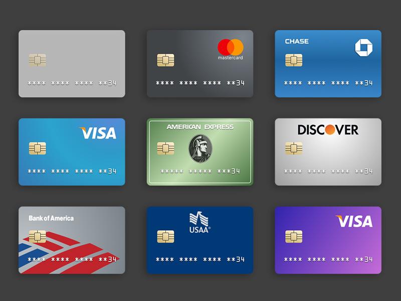 Credit Card Templates Sketch Freebie Download Free