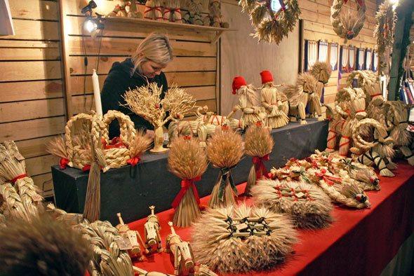 Swedish Straw Christmas Ornaments