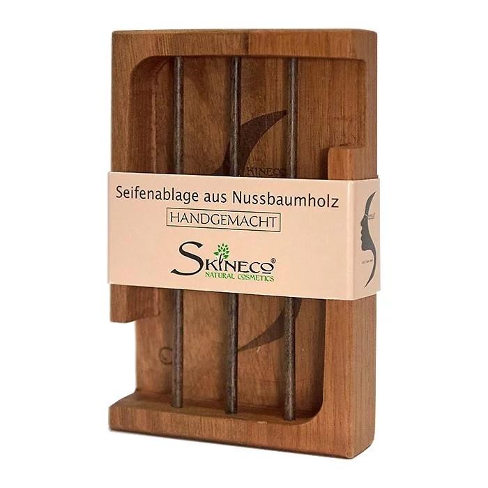 Seifenablage Aus Nussbaumholz Skineco Seifenschale