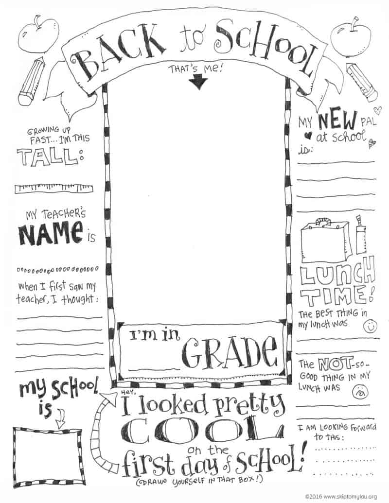 Back To School Coloring Pages Skip To My Lou