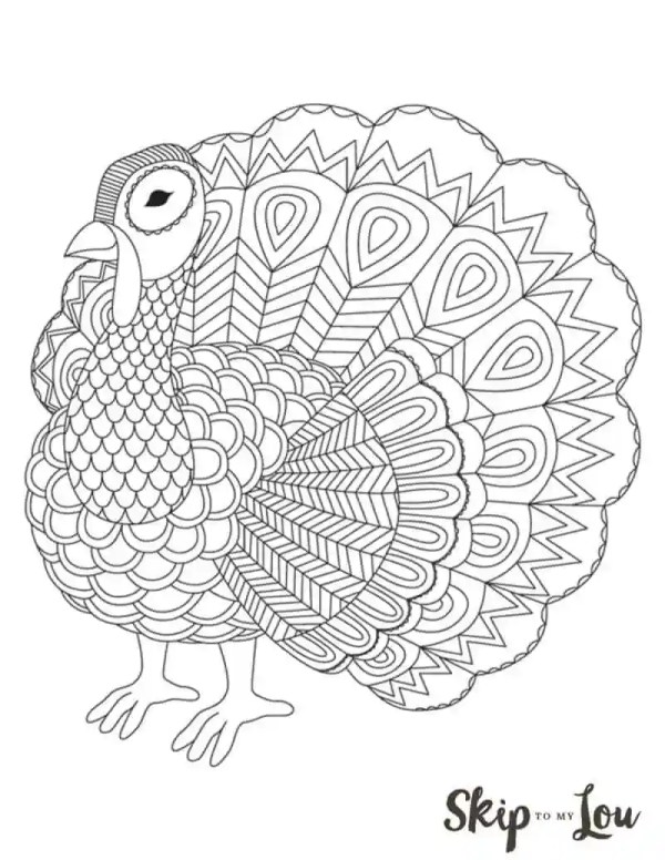 coloring page turkey # 3