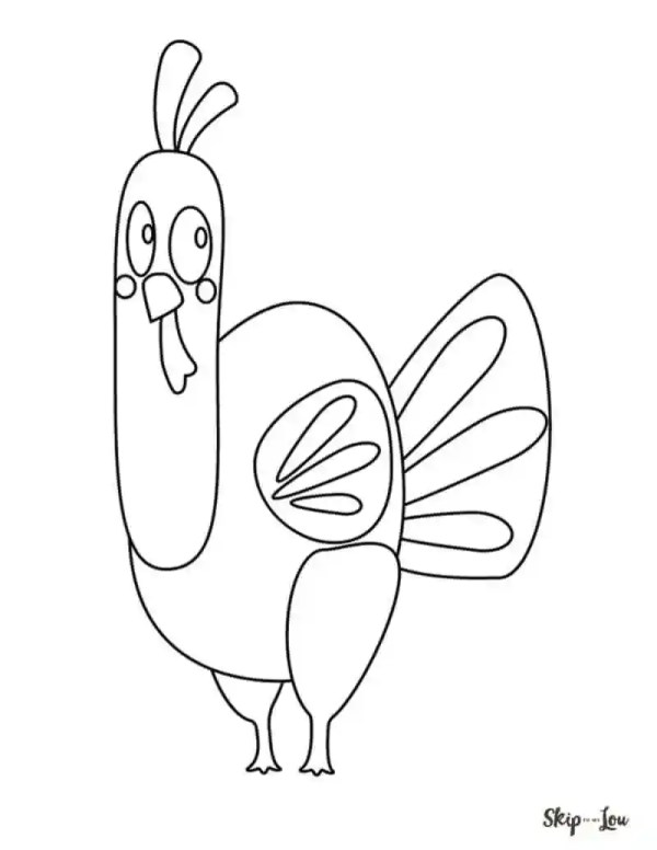 coloring page turkey # 24