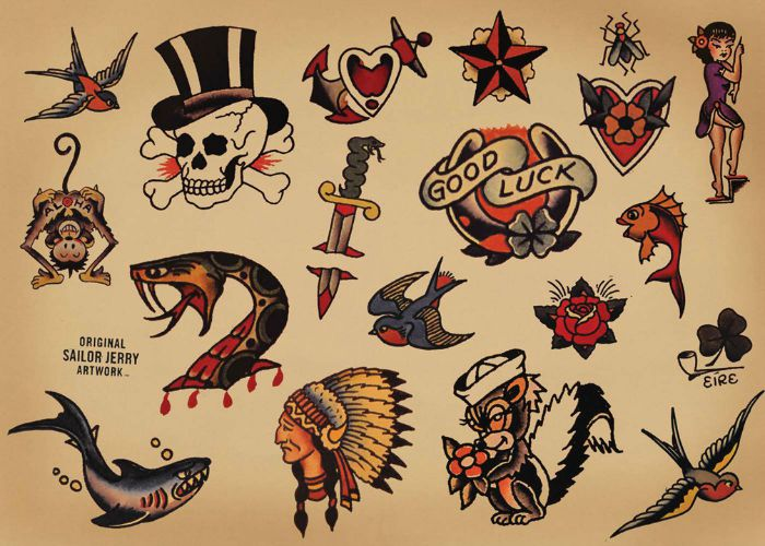 La signification des tatouages Old School Signification Tatoo old school