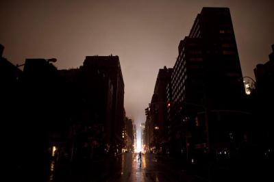 Sandy New York City photos: Flooding and power outages in ...