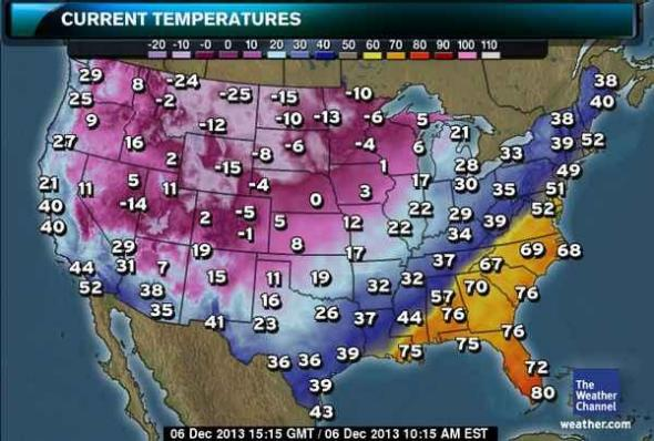 Winter storm Cleon  record lows  US weather map today is completely     national weather map forecast