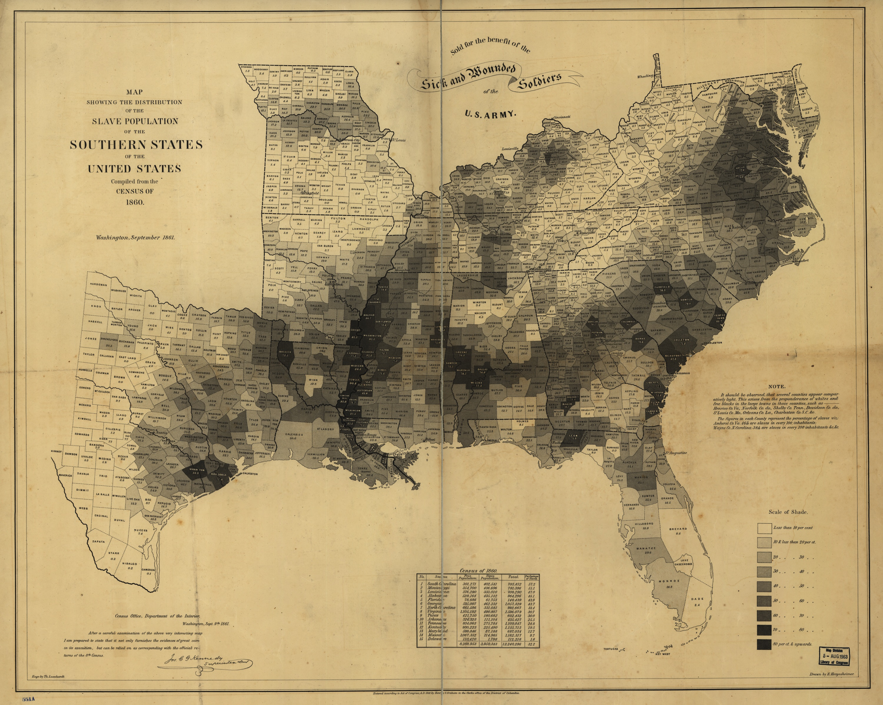 Abraham Lincoln  The president used this map to see where slavery     Slavery Map