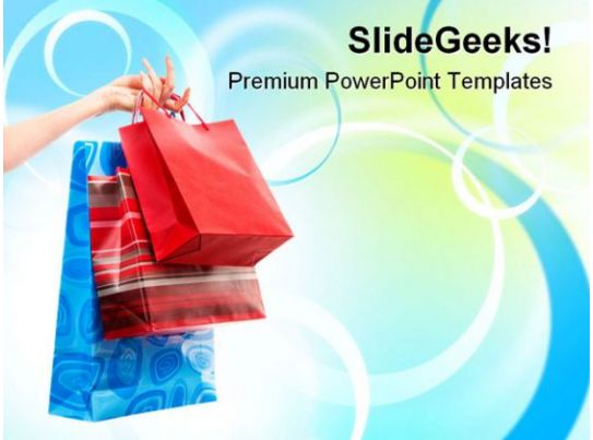 Shopping Bags Sales Powerpoint Templates And Powerpoint