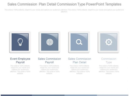 Sales Commission Plan Detail Commission Type Powerpoint