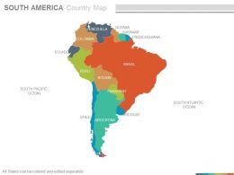Maps Of South America Continent Countries In Powerpoint     maps of south america continent countries in powerpoint Slide01   maps of south america continent countries in powerpoint Slide02