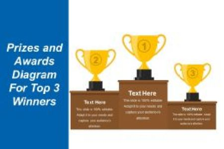 How To Create Certificate Of Achievement Templates In PowerPoint     Prizes And Awards Diagram For Top 3 Winners Presentation Images Sample Ppt  Files      Success Certificate Template PowerPoint
