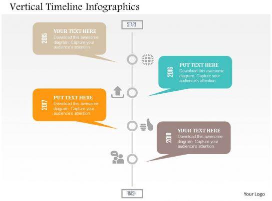 vertical timeline template word
