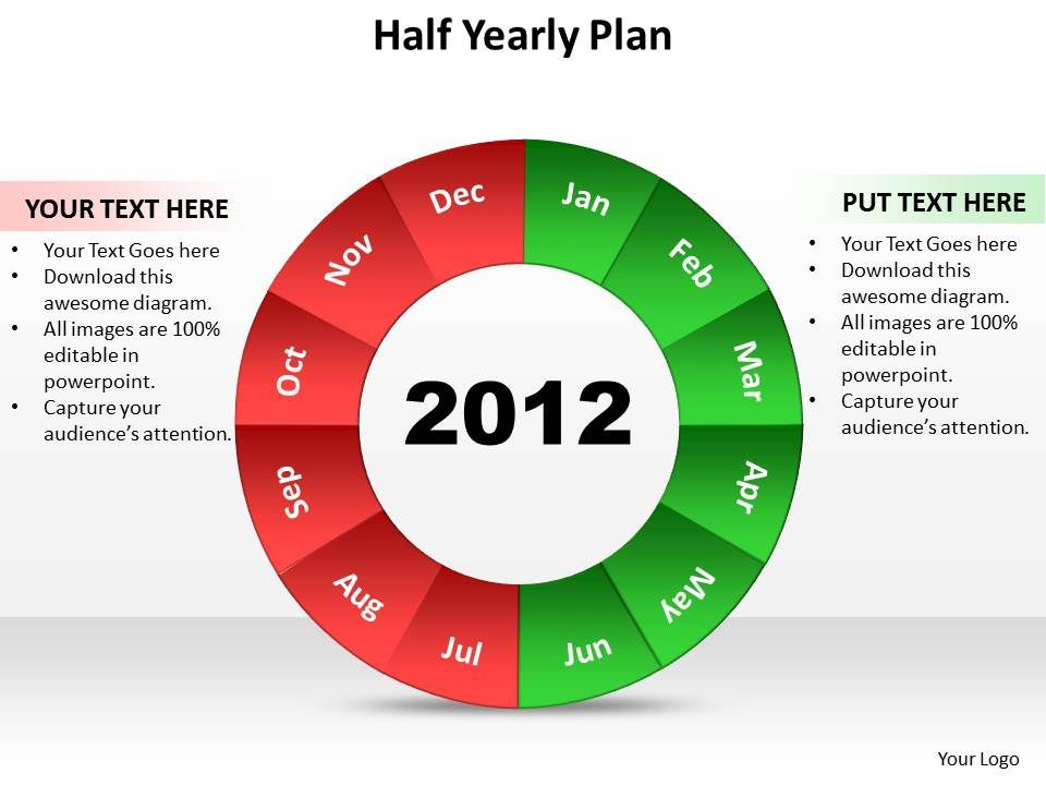 Half Yearly Plan 10 Powerpoint Slide Template