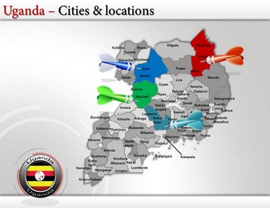 Uganda Map  PPT  Powerpoint Templates   PPT Template on Uganda Maps     Uganda Map  PPT  Powerpoint Templates   PPT Template on Uganda Maps   Uganda  State Map Templates   Uganda Flags and Maps Template