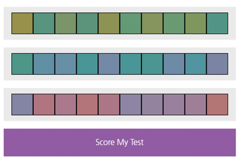 Farnsworth Color Vision Test Online