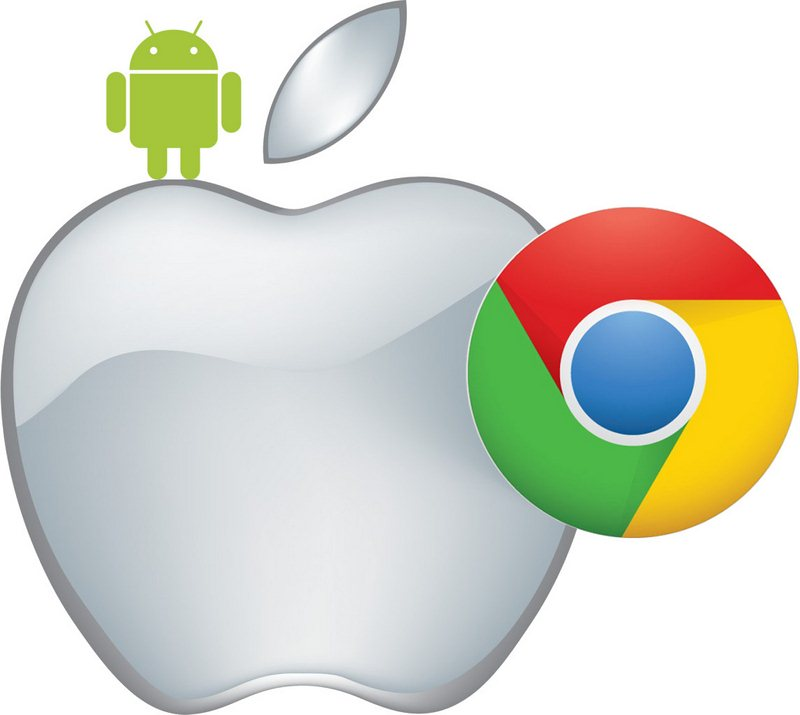 Apple-Chrome-Android