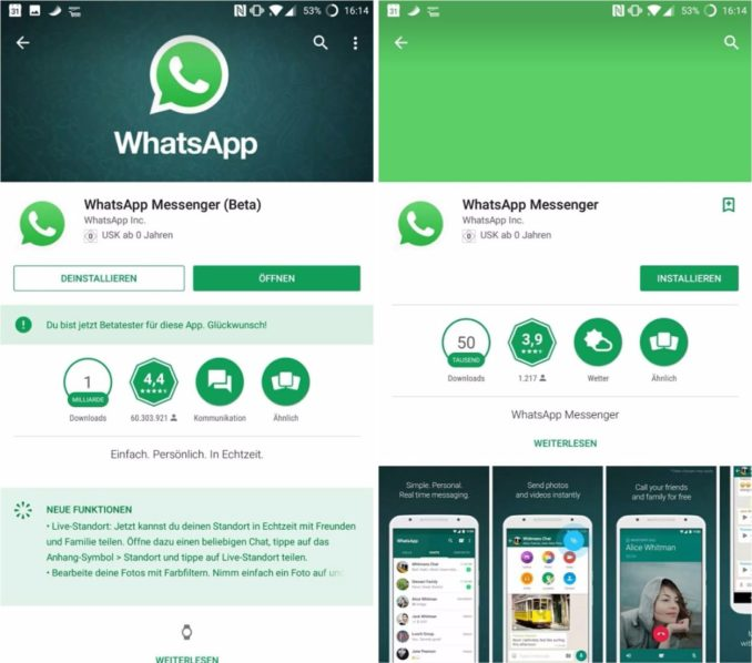 whatsapp real vs fake screenshot