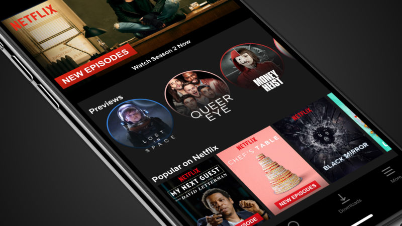 Netflix Mobile Preview Header