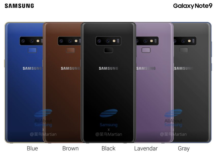 Samsung Galaxy Note9 Farben Leak