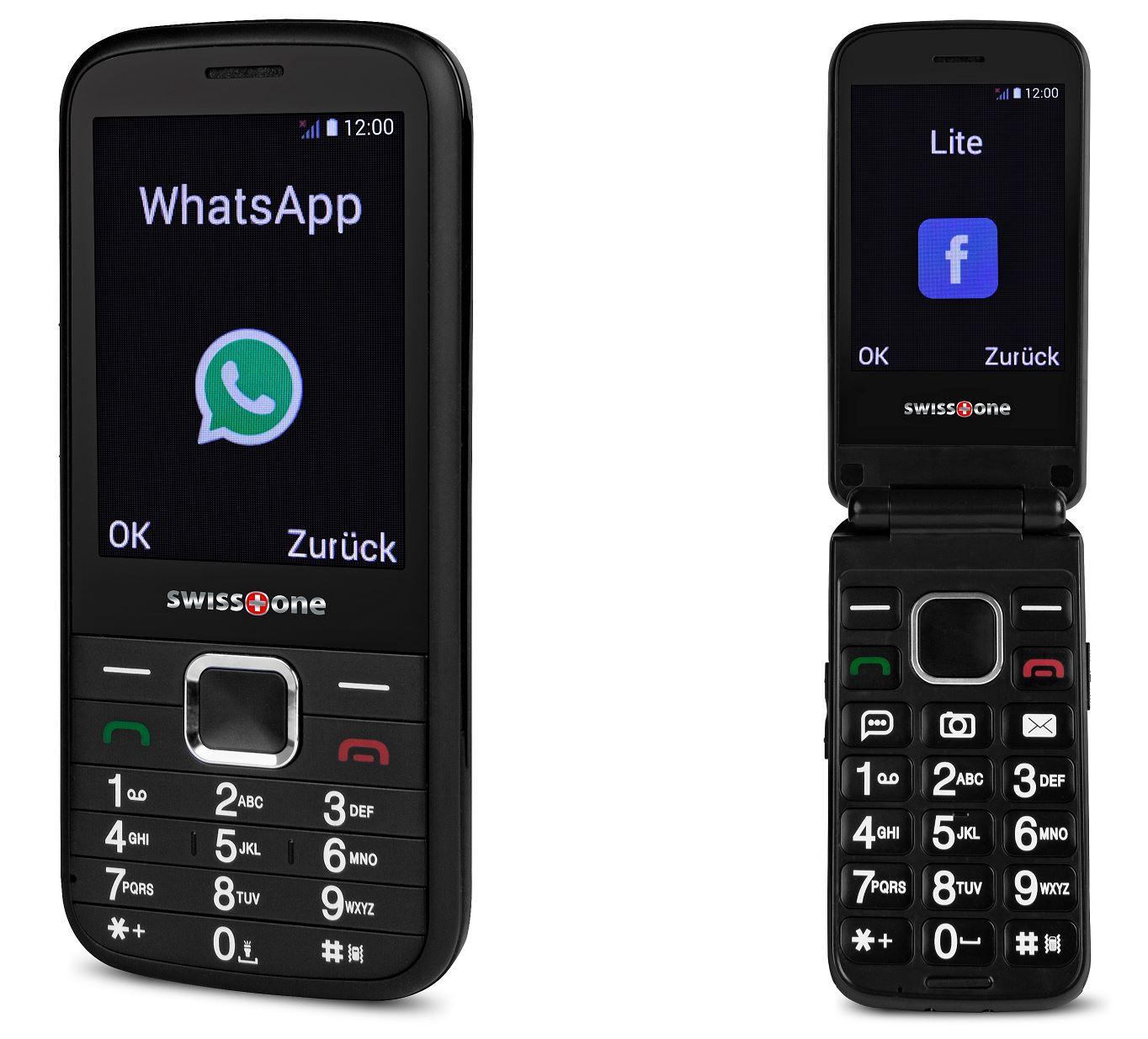 swisstone bbm 680 und 570 senioren handys mit whatsapp