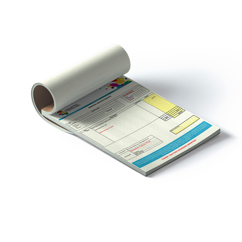 Custom Invoice Book   Receipt Book Affordable Printing   Smarties     A4 custom invoice book
