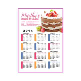 business calendar magnet Design and Printing Services Australia