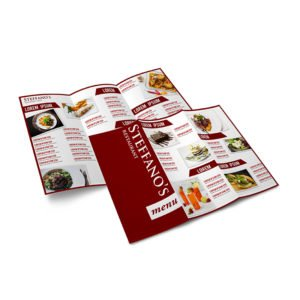 Prinitng A4 Take Away Folded Menu